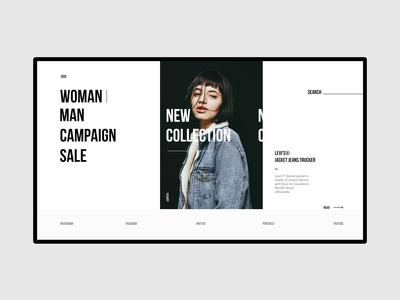 Fashion Store Homepage art brand typography site ux ui web onlineshop shop design