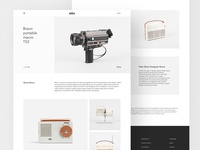 Braun - Website design
