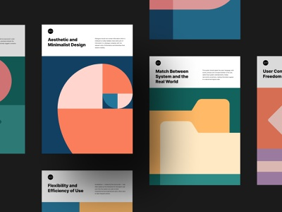 Set of Free Posters for User Interface Design free ui principles heuristic evaluation minimalism color inspiration art posters ux