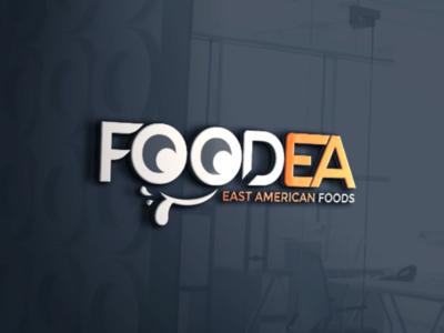 FoodEA- East American Foods Logo american food foodea logo desjgner food logo foods logo logo design