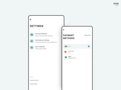 Setttings/Payment Methods