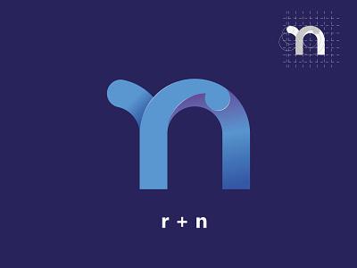 nr letter logo lettermark letters business logo design logotype logo design mark branding modern letter minimalist logo letter nr logodesign logo minimal