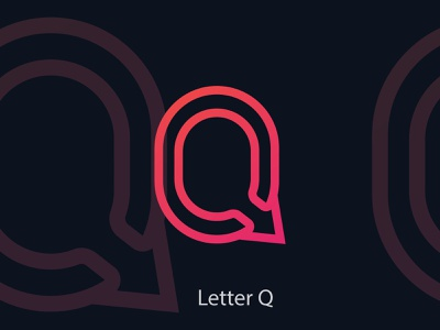 Letter Q color concept identity creative logotype icon gradient idea lettermark illustration letter logodesign design branding vector logo design logo