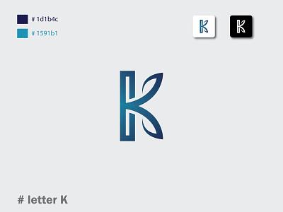 Letter K Logo logo designer letter k logo monogram lettermark brand identity lettering letter k abstract app icon vector concept creative logo design identity letter logotype ui design branding logo