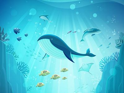 Artworks for ocean environment and research3 animal ocean animation artwork illust concept art photoshop artwork art direction artwork photoshop illustration