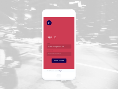 Daily UI #001 — Sign Up Form