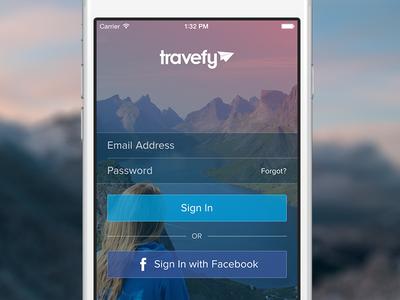 Travefy iPhone Login login signup ios iphone