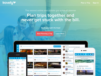 New Travefy Home Page