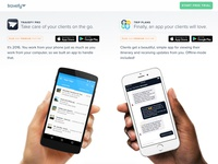 Mobile Apps Section on Landing Page
