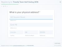Minimal Full Screen Registration Form