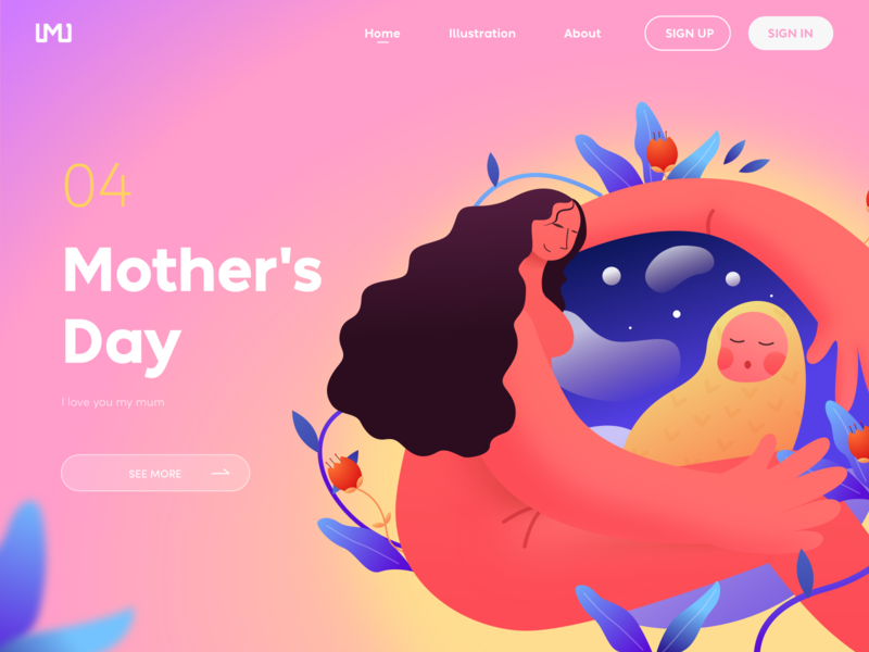 mother's day design illustration