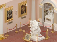 Ancient Museum illustration octane 3d ancient art paintings design architecture cinema4d isometric sculpture monument