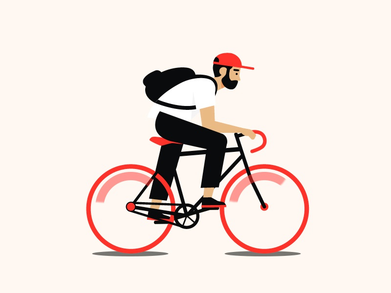 Bike design dribbble vector illustration graphic design art 2d bicycle bike animation