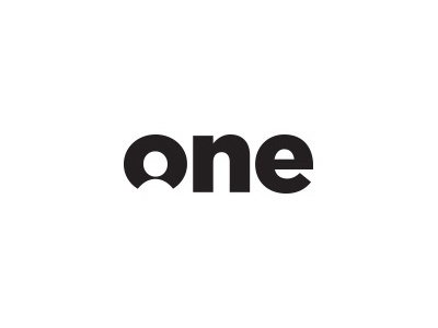 One one logo person black negative space simple easy gotham