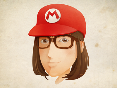 Self portrait avatar character illust vector self portrait head portrait