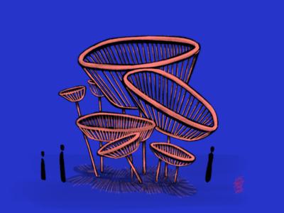 Hoops on hoops lifetakestime radical concept autodesk design art installation