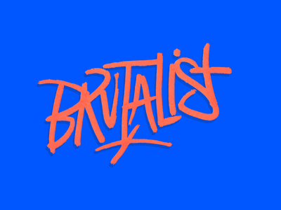 Brutalist layout graffiti handstyle typography orange blue brutalist architecture
