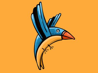 Birds the word fun birds bird colors autodesk rendering sketch lifetakestime branding illustration design