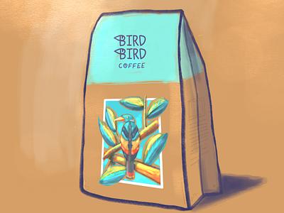 Bird bird coffee logo rendering illustration design autodesk sketch lifetakestime branding