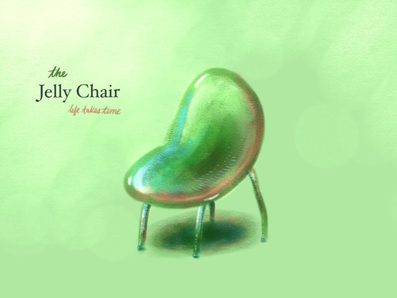 The Jelly Chair sketchbook autodesk chair jelly colors colorful art illustration furniture design lifetakestime