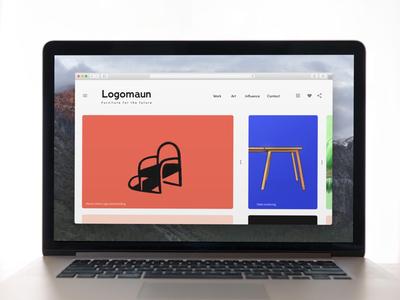 Logomaun portfolio layout branding illustration logo radical lifetakestime design art portfolio web layout