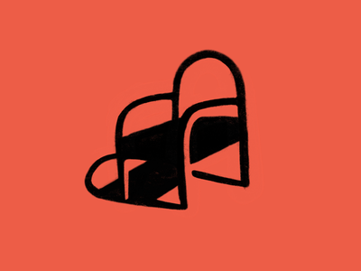 Chair icon black red lifetakestime branding layout illustration art icon design furniture chair