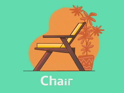 The daily chair sketch colors style lifetakestime branding design layout furniture chair