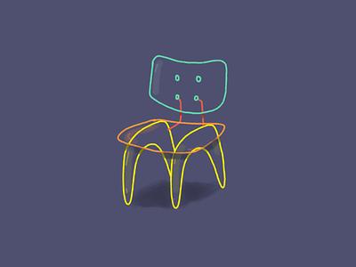 Plastic chair sketchbook sketch color lifestyle lifetakestime art illustration design chair