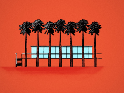 Happy 2020 fun trees building architectural brazilian rendering simple modern 2020 ipad autodesk sketch illustration branding art lifetakestime design colors architecture
