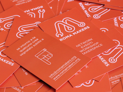 Fablab roma makers business card by mino parisi dribbble roma makers business card mino parisi 2 colourmoves