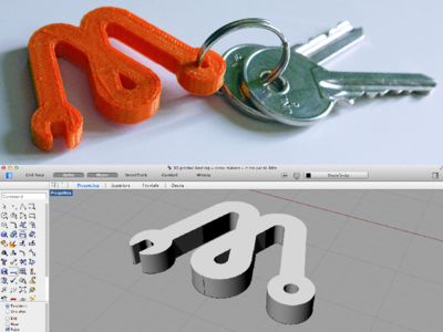 FabLab Roma Makers 3D print key ring plastic brand fablab key ring makerbot 3d print diy logo wrench electronic maker industrial design