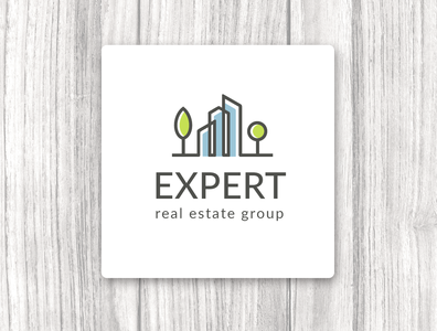 Logo. Real estate group. Expert minimalism vector real estate logo logo design illustrator logo