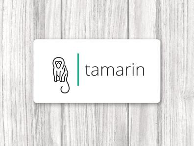 Logo monkey. Tamarin minimal icon design branding vector illustrator logo