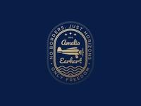 Amelia Earhart Airplane Badge