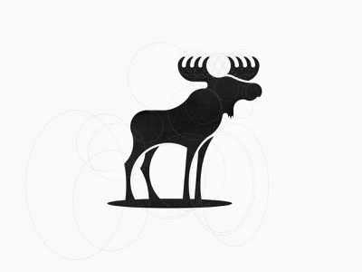Skogskung Moose Logo buck deer moose animal logo