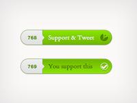 Support & Tweet Button
