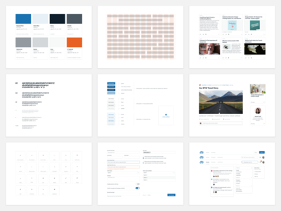 Degreed Design System blue white product design web design system style guide style-guide minimal clean