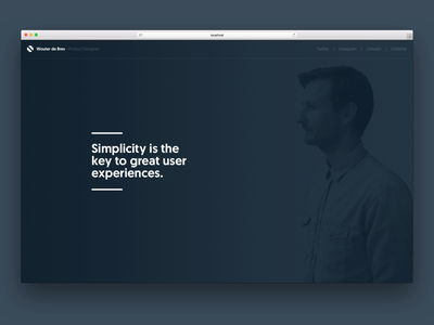 wouterdebr.es - concept 2 website black dark portfolio minimal clean