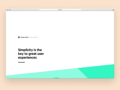 wouterdebr.es - concept 3 colors website colourful colorful portfolio minimal clean