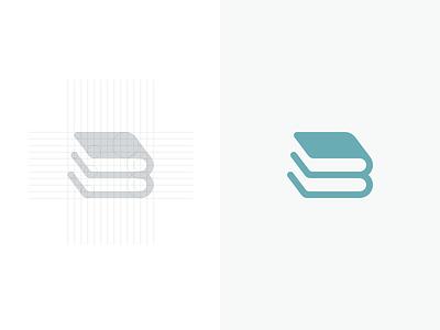 B+Books logogrid b grid logo book