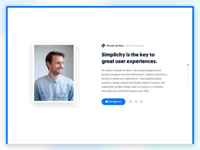 Portfolio Redesign website web ui redesign portfolio minimal blue