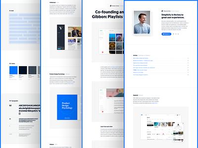 🎉I did it! I launched my new portfolio website! simple minimal blue clean portfolio website