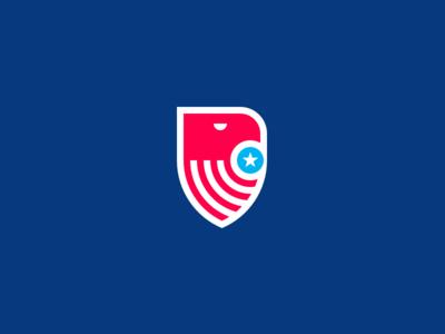 American Eagle usa symbol crest shield blue white re stripes star logo eagle