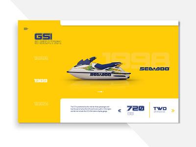 Seadoo Retro Model Evolution | Website Showcase Concept logo mobile illustrator identity typography website branding animation web ui vector design illustration