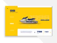 Seadoo Retro Model Evolution | Website Showcase Concept