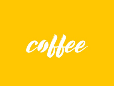 Coffee Logo Concept ☕ lettering type vector typography logo illustrator illustration identity design branding