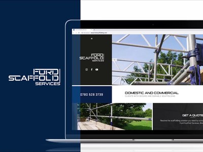 Ford Scaffolding | Website Design & Complete Re-Brand graphicdesign uk bristol services industrial scaffolding clean brandingidentity animation type branding agency typography lettering identity logo css html 5 website design branding