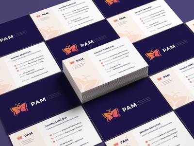 PAM Coahcing - Visit card visiting card design visit card coach coaching visiting card visitcard