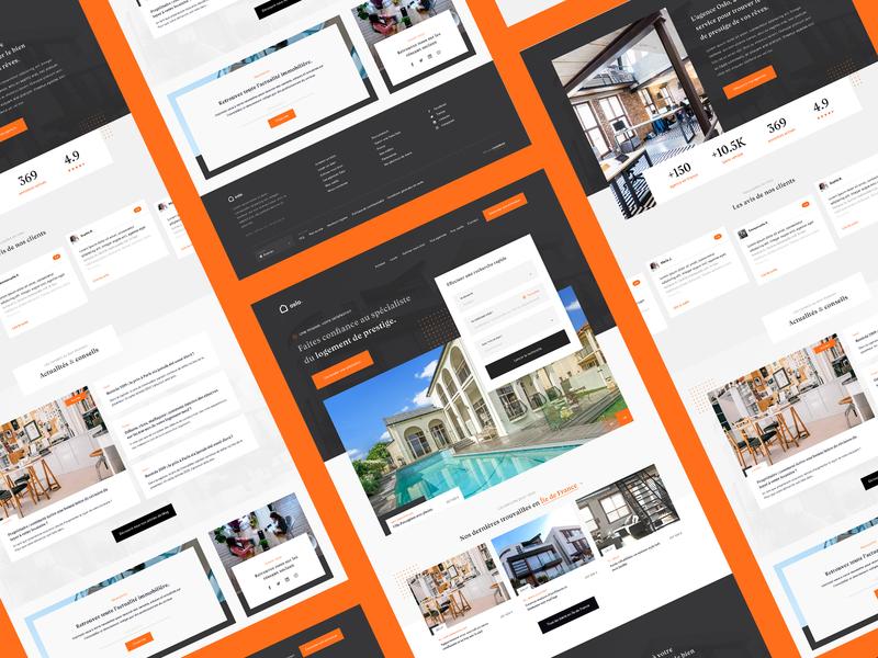 Oslo. — Real Estate Agency immobilier newsletter footer header carousel sliders search real estate realestate orange juice black dailywebdesign dailyux dailyui ux uidesign ui web webdesign website