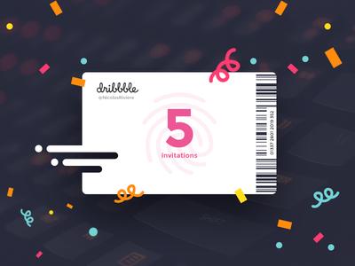 5 Dribbble Invitations draftees draft invits dribbble invitation